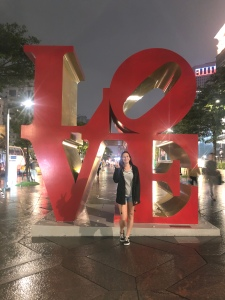 Taipei 101 love sign